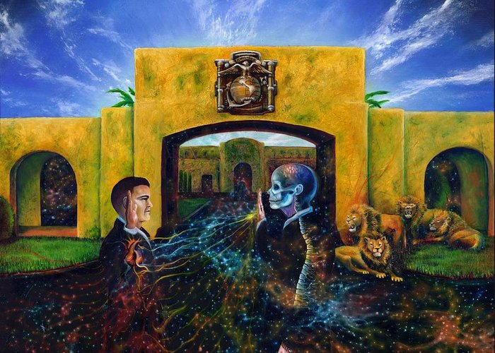 Metaphysical Realism Paintings Greeting Cards