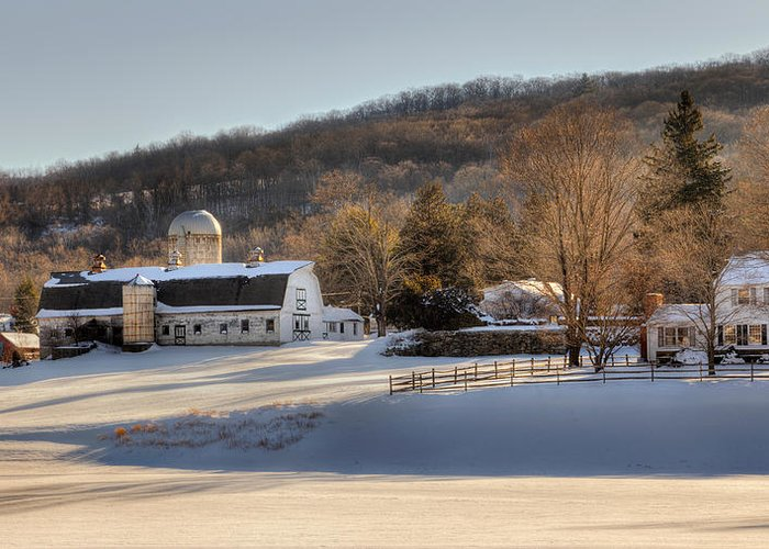 Bucolic Greeting Card featuring the photograph The Ol Homestead by Bill Wakeley