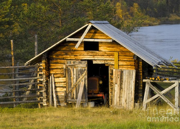 Heiko Greeting Card featuring the photograph The Old Barn by Heiko Koehrer-Wagner