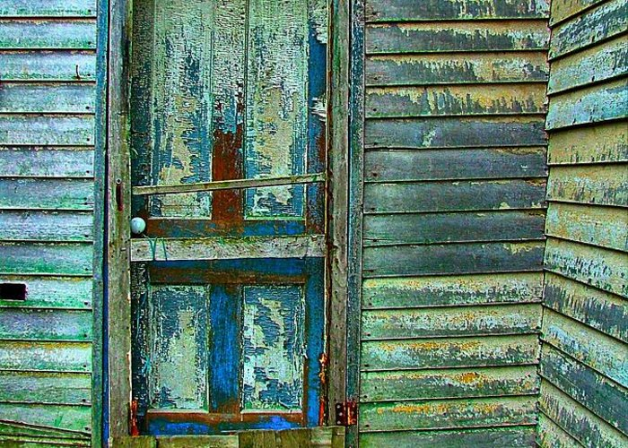 Old Doors Greeting Card featuring the photograph The Old Blue Door by Julie Dant