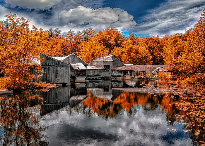 Landscape Greeting Card featuring the photograph The Old Boat House by Bob Orsillo
