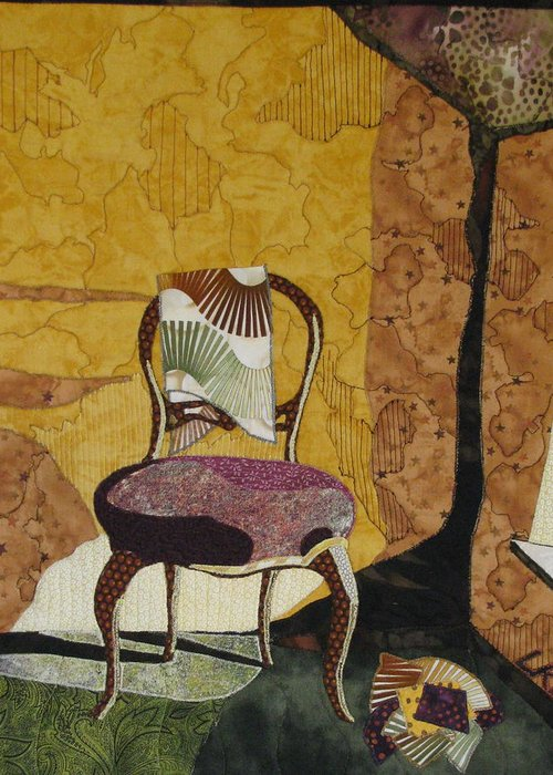 Old Chairs Tapestries Textiles Greeting Cards