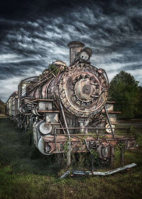 Train Greeting Card featuring the photograph The Old Depot Train by Brenda Bryant