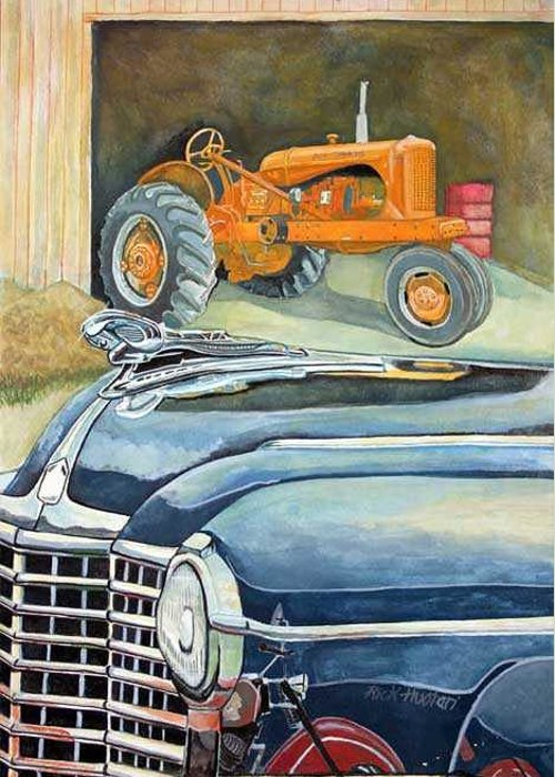 Rick Huotari Greeting Card featuring the painting The Old Farm by Rick Huotari