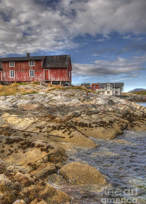 Hut Greeting Card featuring the photograph The Old Fisherman's Hut by Heiko Koehrer-Wagner