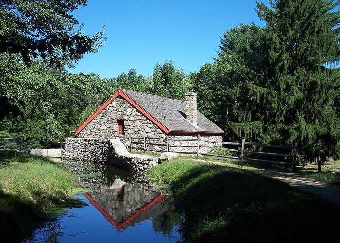 Mill Greeting Card featuring the photograph The Old Grist Mill by Georgia Hamlin
