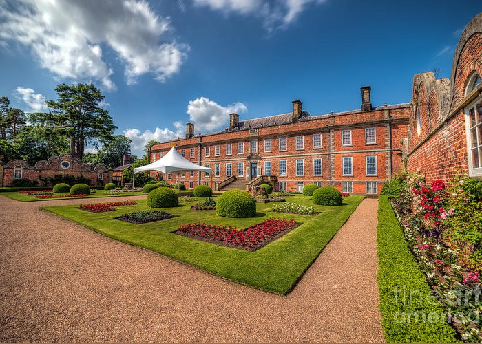 Stately Home Greeting Card featuring the photograph The Old Hall by Adrian Evans