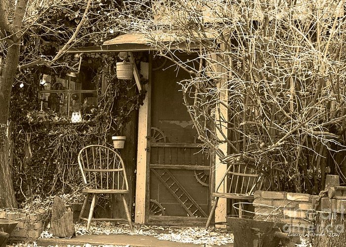 Genoa Greeting Card featuring the photograph The Old House In Genoa Nevada by Artist and Photographer Laura Wrede