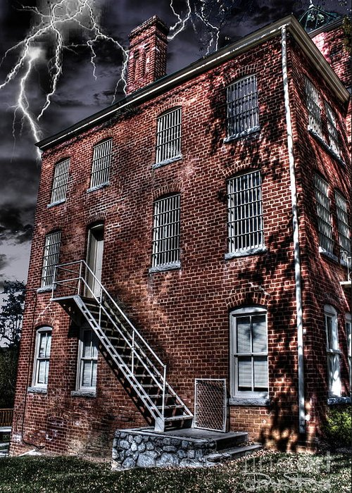 Abandoned Greeting Card featuring the photograph The Old Jail by Dan Stone