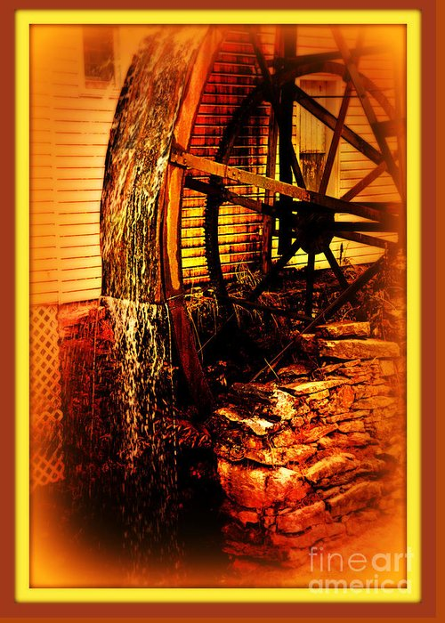 Mill Greeting Card featuring the photograph The Old Mill 1886 Cherokee North Carolina by Susanne Van Hulst