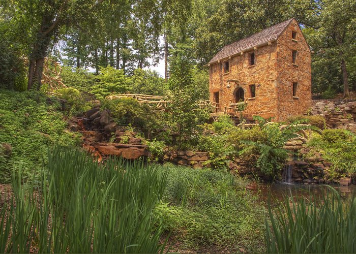 Old Mill Greeting Card featuring the photograph The Old Mill And Pond by Jason Politte