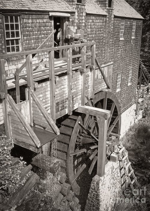 Old Greeting Card featuring the photograph The Old Saw Mill by Edward Fielding