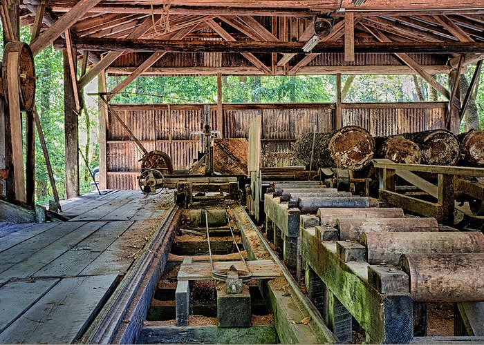 Saw Mill For Sale >> The Old Sawmill Greeting Card