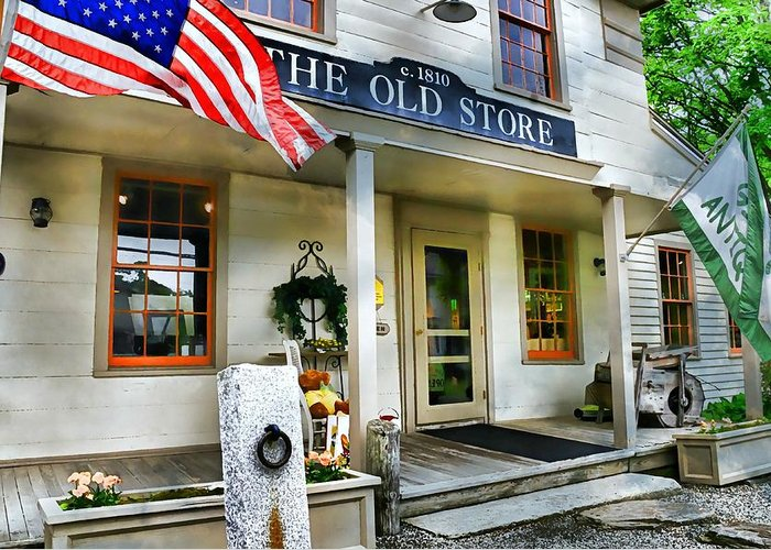 Store Greeting Card featuring the photograph The Old Store by Diana Angstadt