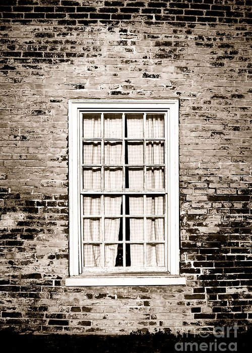 Window Greeting Card featuring the photograph The Old Window by Olivier Le Queinec