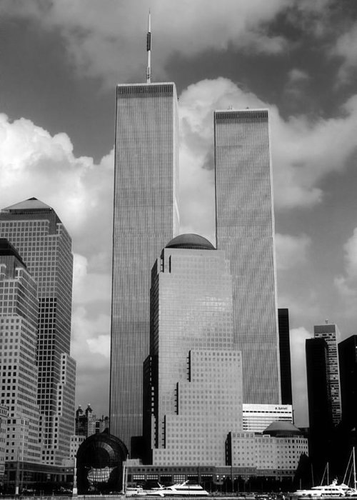 New York City Greeting Card featuring the photograph The Old Wtc by Joann Vitali