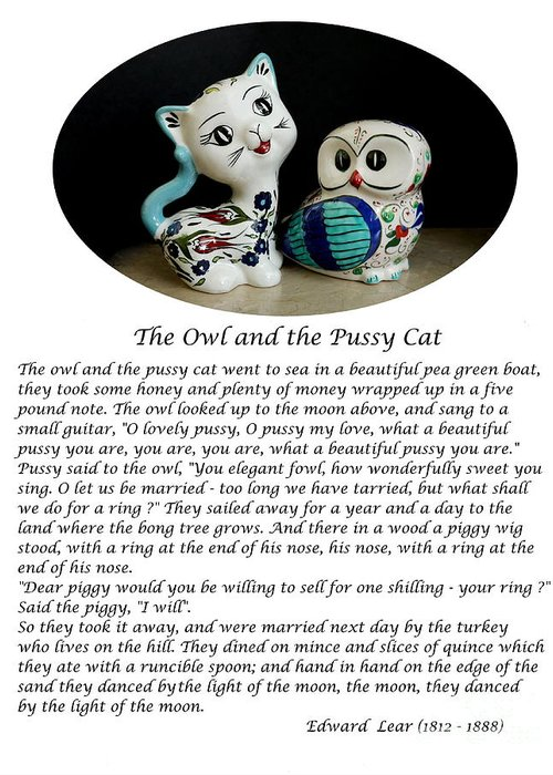 The Owl And The Pussy Cat Greeting Cards