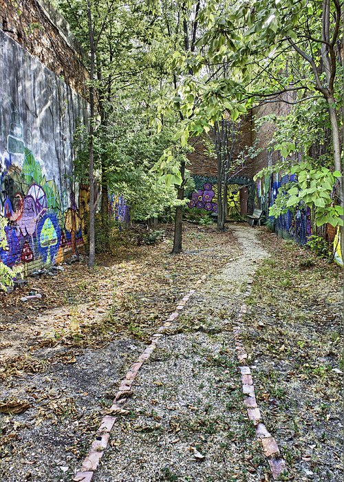 Graffiti Greeting Card featuring the photograph The Path Of Graffiti by Jason Politte