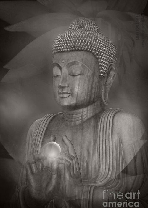 Buddha Greeting Card featuring the photograph The Path Of Peace by Sharon Mau