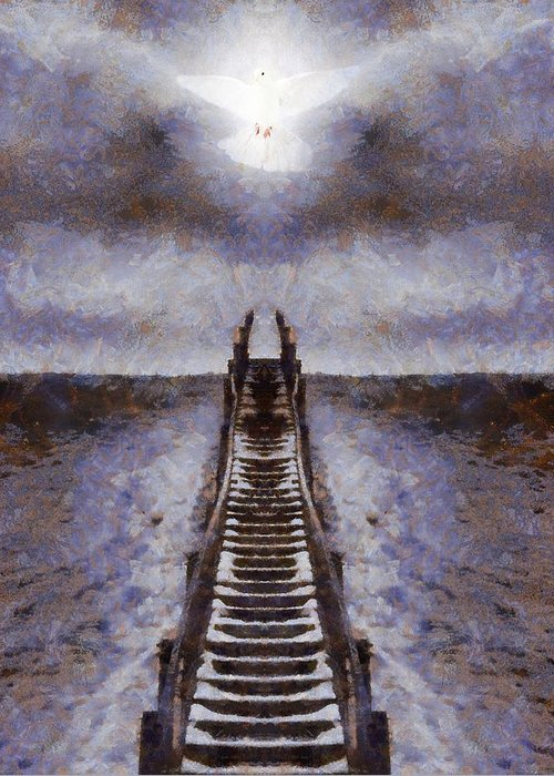 The Path To Heaven Greeting Card featuring the painting The Path To Heaven by Dan Sproul