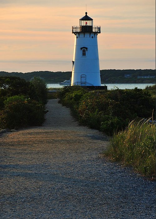 Lighthouse Greeting Card featuring the photograph The Path To The Lighthouse by David Champigny
