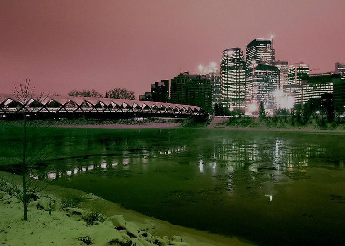 Peace Greeting Card featuring the photograph The Peace Bridge by David Pantuso