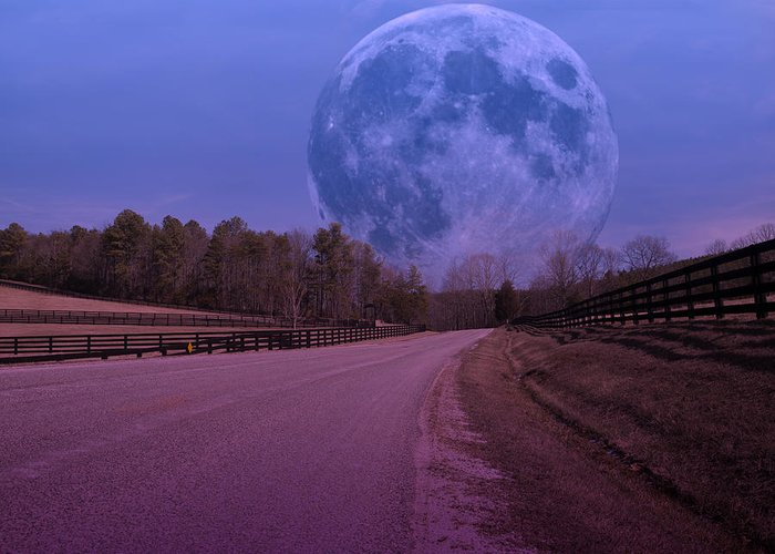 Full Greeting Card featuring the photograph The Peace Moon by Betsy Knapp