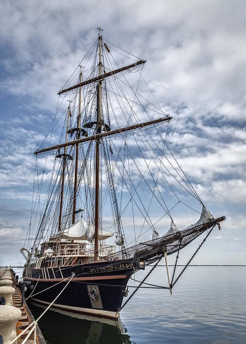 Peacemaker Greeting Card featuring the photograph The Peacemaker Tall Ship by Dale Kincaid