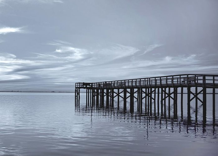 Pier Greeting Card featuring the photograph The Pier by Kim Hojnacki