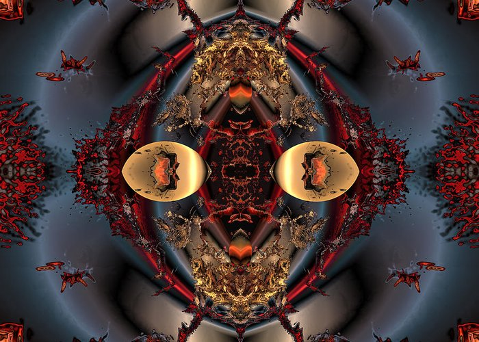 Digital Greeting Card featuring the digital art The Place Of Reconciliation by Claude McCoy