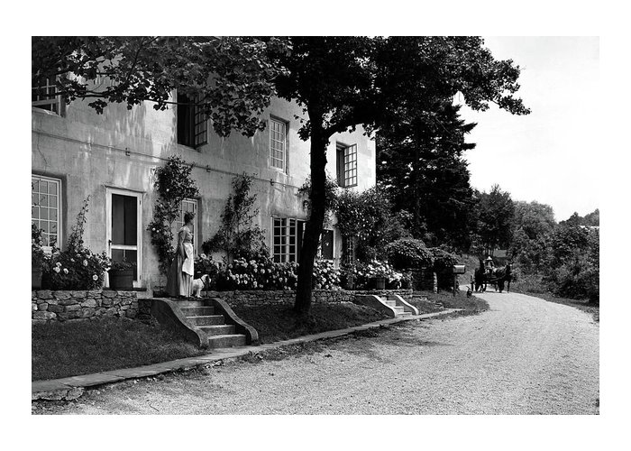 Architecture Greeting Card featuring the photograph The Platt's House In New Jersey by Samuel H. Gottscho