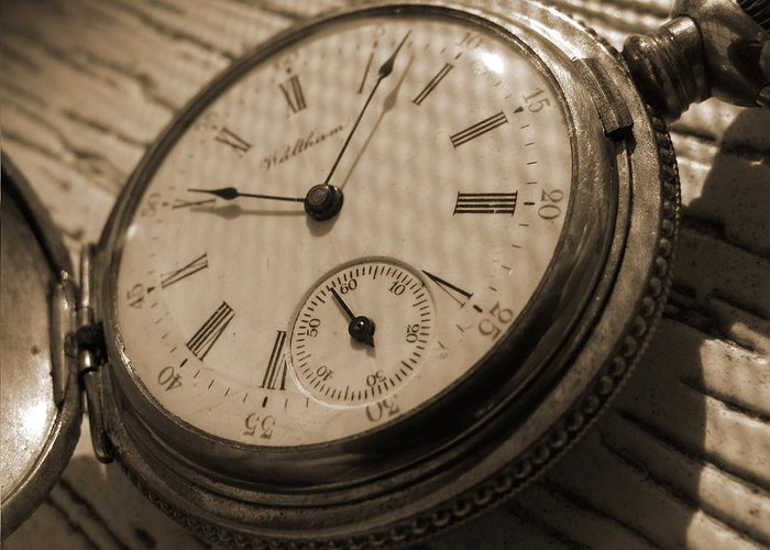Pocket Watch Greeting Card featuring the photograph The Pocket Watch by Mike McGlothlen