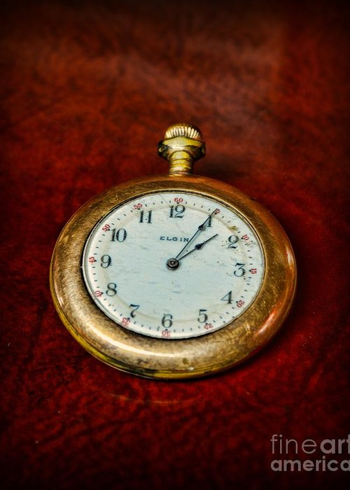 Paul Ward Greeting Card featuring the photograph The Pocket Watch by Paul Ward