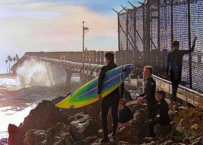 Surfer Greeting Card featuring the photograph The Point Of No Return by Ron Regalado