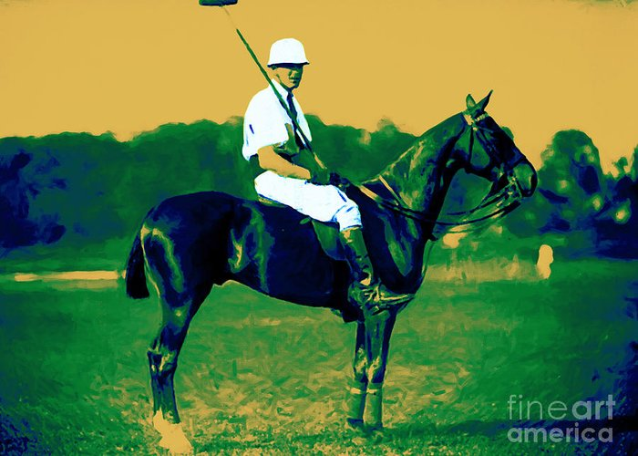 Sport Greeting Card featuring the photograph The Polo Player - 20130208 by Wingsdomain Art and Photography