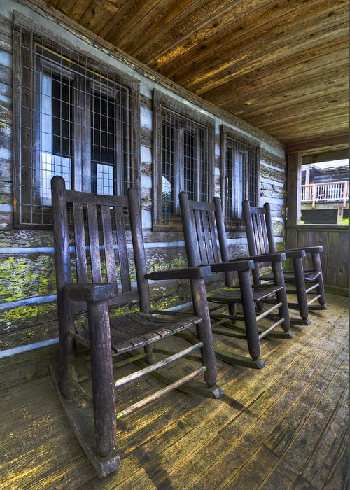 Appalachia Greeting Card featuring the photograph The Porch by Debra and Dave Vanderlaan