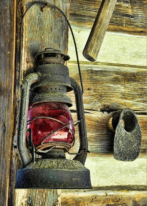 Still Life Greeting Card featuring the photograph The Porch Light by Jan Amiss Photography