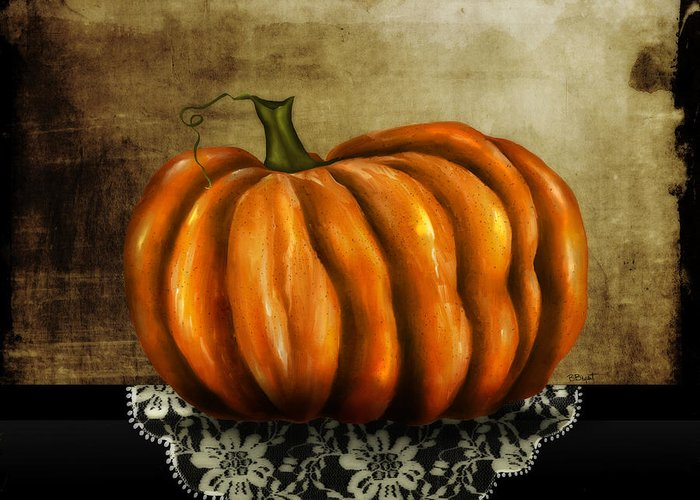 Pumpkin Greeting Card featuring the painting The Prize Winner by Brenda Bryant