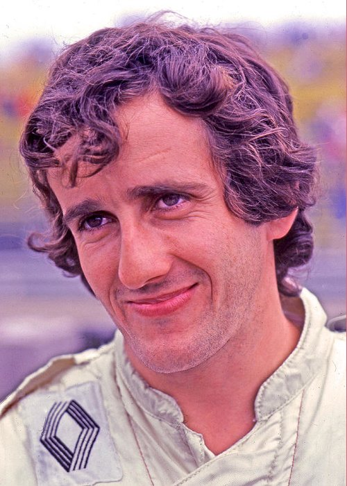Alain Prost Greeting Card featuring the photograph The Professor by Mike Flynn