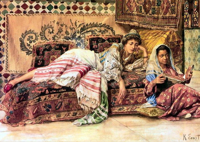 Orientalists Digital Art Greeting Cards