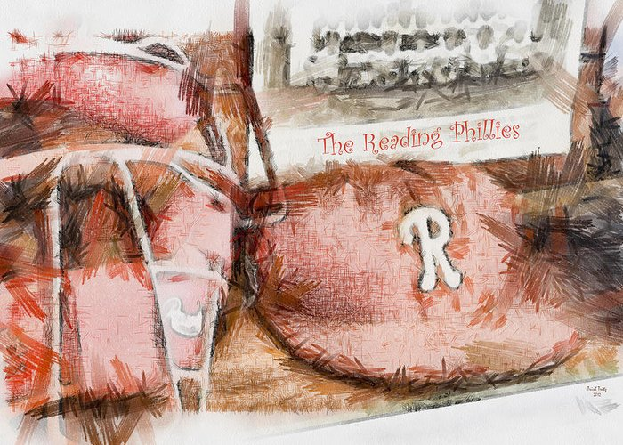 Baseball Greeting Card featuring the photograph The Reading Phillies by Trish Tritz