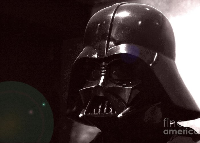 Star Wars Greeting Card featuring the photograph the Real Darth Vader by Micah May