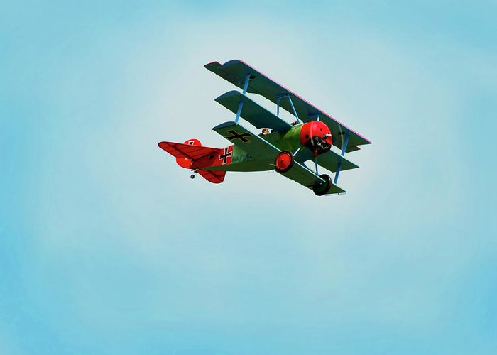 Radio Controlled Air Plane Greeting Card featuring the photograph The Red Baron by Thomas Young
