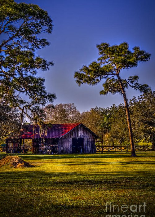 Red Roof Greeting Card featuring the photograph The Red Roof Barn by Marvin Spates