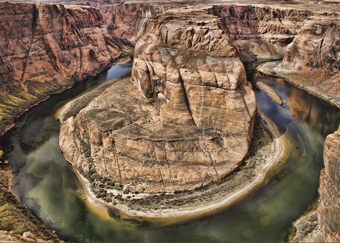 Horseshoe Bend Greeting Card featuring the photograph The River Did It by Heather Applegate