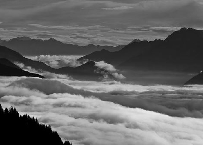 Bn Greeting Card featuring the photograph The River Of Clouds by Marco Affini