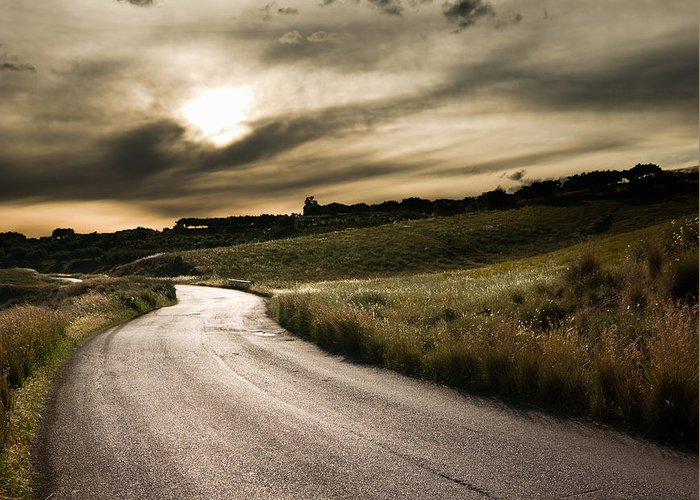 The Road Greeting Card featuring the photograph The Road by Boon Mee