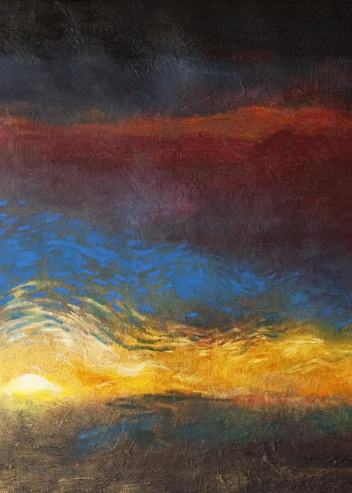 The Road To Emmaus Greeting Card featuring the painting The Road To Emmaus by Daniel Bonnell