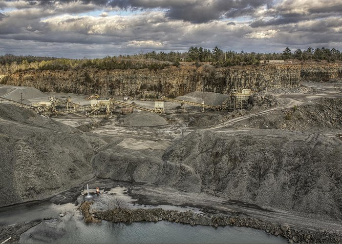 Quarry Greeting Card featuring the photograph The Rock Quarry by Jason Politte