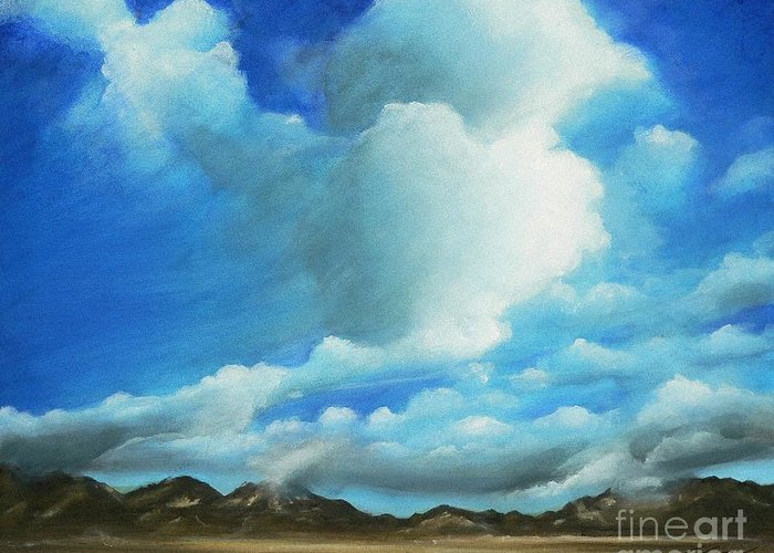 Acrylics Greeting Card featuring the painting The Rockies by - Artificium -